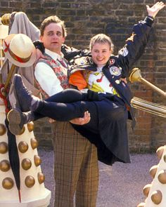 Ace and the Seventh Doctor. What a great team! (Remembrance of the Daleks)