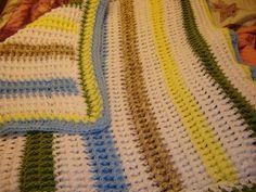 Front Post crochet baby Blanket.