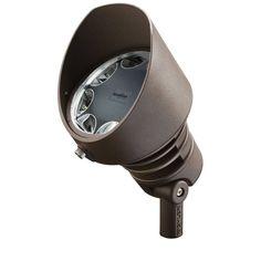 Kichler 16012-30 21W LED Accent Light - 3000K - 10 Degree Narrow Beam Architectural Bronze Outdoor Lighting Landscape Lighting Accent Lights