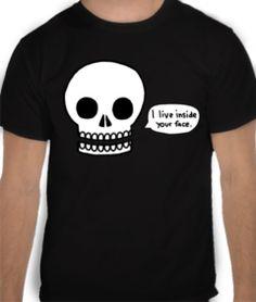 camisetas caveira face 19,90