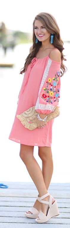 Embroidered Dress Summer Style by Southern Curls and pearls