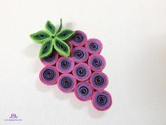 quilling grape, quilled fruits by Paper Piece