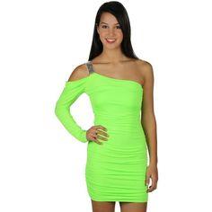 one shoulder metal accent club dress- I want!