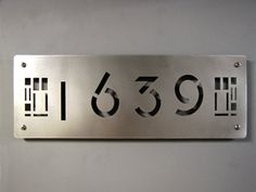 CUSTOM Prairie Style House Numbers in Stainless Steel. $119.00, via Etsy.