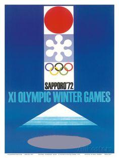 XI Olympic Winter Games, Sapporo, Hokkaid?, Japan Stampa artistica