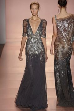 Jenny Packham. The model looks disgustingly thin but that dress ! Want. Need. Must.
