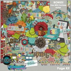 Our Three Sons Collab by Nibbles Skribbles & A-Manda Creations available at Digital Scrapbooking Studio #thestudio #digitalscrapbooking