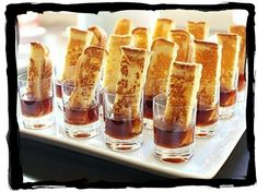 Box: Upgrade Your French Toast French Toast Sticks w/syrup for brunch.French Toast Sticks w/syrup for brunch. Breakfast And Brunch, Breakfast Recipes, Brunch Food, Breakfast Buffet, Brunch Buffet, Party Buffet, Morning Breakfast, Morning Food, Breakfast Casserole