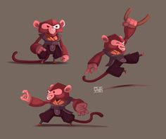 Monkey adventures on Behance