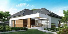 Projekt domu HomeKoncept-33 214,09 m2 - koszt budowy - EXTRADOM Home Fashion, Plans, Pergola, Mansions, House Styles, Outdoor Decor, Home Decor, House Ideas, Prefab Homes