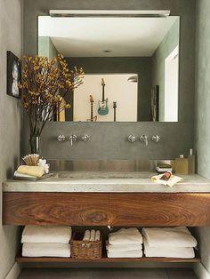 30 ideas para combinar tus muebles de baño de estilo actual · 30 ideas to combine your bathroom furniture Rustic Bathrooms, Small Bathroom, Bathroom Ideas, Master Bathroom, Bathroom Remodeling, Bathroom Designs, Luxury Bathrooms, Modern Bathrooms, Bathroom Sinks For Sale