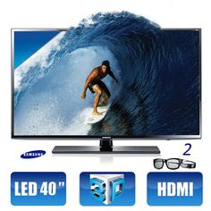 TV LED 40'' Samsung Full HD 3D, por apenas R$1998.00