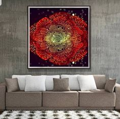 5D Chinese wind diamond painting the living room clock clock full drill lilies