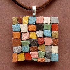 Mosaic Pendant The Patchwork Quilt A Dirt Road by dirtroadsouth