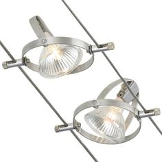 Accent Cable Rail Kit 5 Head by Tech Lighting - Color: Nickel - Finish: Matte Nickel - Wire Track Lighting, Track Lighting Kits, Lighting System, Cool Lighting, Modern Lighting, Lighting Ideas, Fluid Design, Cable Railing, Lighting Showroom