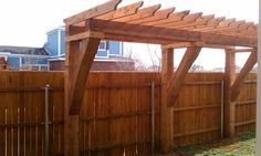 Pergolas, Arbors and Decks in Lubbock, TX: Sideyard Pergola in Vintage Township in South Lubbock
