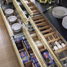 Awesome Kitchen Drawer Units Organize Your Kitchen With These 20 Awesome Kitchen Storage Kitchen Drawer Units, Kitchen Drawer Organization, Kitchen Storage Solutions, Diy Kitchen Storage, Drawer Storage, Pantry Storage, Extra Storage, Kitchen Cabinets, Kitchen Decor Themes