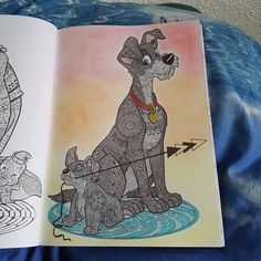 "30 mentions J'aime, 4 commentaires - Pau Llyne (@pau_llyne) sur Instagram : ""#dogs #clochard #disney #bestiaire #arttherapie  #coloriageantistress #labelleetleclochard2…"""