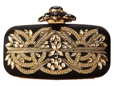 OSCAR DE LA RENTA Cabochon Goa Clutch Bag Black Gold $1495  (Compare Elsewhere $1700) SHIPS FREE BEST PRICES YOU WILL FIND ANYWHERE ON GENUINE LADIES DESIGNER BRANDS! FREE WORLD SHIPPING & LOCAL DELIVERY AVAILABLE AT THE SURF CITY SHOP in Huntington Beach, California Major Credit Cards Accepted