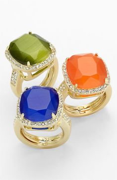 Ariella Collection Stone & Crystal Rings