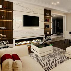 saboo's residential space design: asian by tvk modular furniture,asian Modern Tv Room, Modern Tv Wall Units, Modern Luxury Bedroom, Living Room Partition Design, Room Partition Designs, Living Room Tv Unit Designs, Tv Unit Interior Design, Tv Unit Furniture Design, Modular Furniture