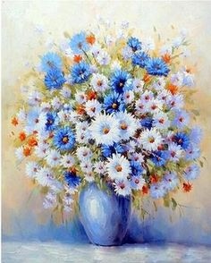 Assemble Wooden Frame Flower Wall Pictures Value-Gift Art Decorative painting Diy Oil Painting,Hica Paint By Number Kits Drawing On Canvas By Hand