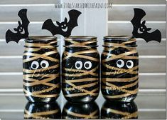 Halloween Crafts with Mason Jars