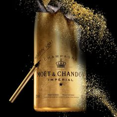 """Moet & Chandon - Golden Premium Jeroboam + """"The Gift by Moet"""" - Freshness Mag Moet Chandon, Champagne Moet, Dom Perignon, Brand Advertising, Veuve Clicquot, Message In A Bottle, Sparkling Wine, Photoshoot Inspiration, Christmas Holidays"""