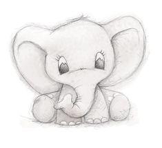Cute Elephant by Clare Thompson - .-Niedlicher Elefant von Clare Thompson – Cute elephant by Clare Thompson – – - Cute Animal Drawings, Pencil Art Drawings, Drawing Animals, Fun Easy Drawings, Easy Drawings Of Animals, Animal Sketches Easy, Cartoon Animals To Draw, Cartoons To Draw, Cute Animals To Draw
