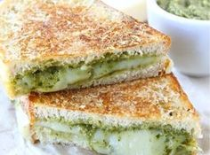 parmesan crusted pesto grilled cheese sandwich parmesan crusted pesto ...