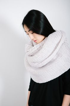 Thick Knit Ivory Infinity Scarf – Parc Boutique
