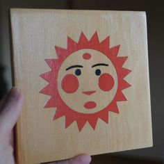 Mod Podged sun on wood—could make a set of tiles with various suns.
