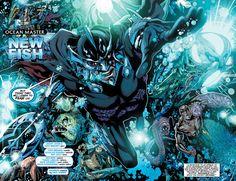 Ocean Master from the New Villain's Month series. Hawkgirl, Batwoman, Ocean Master, Nightwing And Starfire, Black Manta, Comic Books Art, Book Art, Black Canary, Aquaman