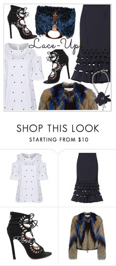 """Lace It Up"" by teoecar ❤ liked on Polyvore featuring Dion Lee, Marni, Emilio Pucci, Lanvin, laceup and rosegal"
