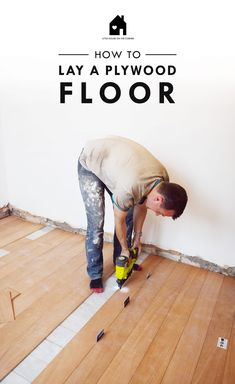 How To Lay A Plywood Floor good tips and helpful hints (used thin plywood) Plywood Plank Flooring, Diy Flooring, Wooden Flooring, Flooring Ideas, Kitchen Flooring, Painted Plywood Floors, Hardwood Floors, Diy Wood Floors, Wood Stain