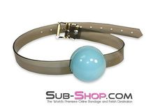 2406A Sultry Night Grey Luxe PVC Ball Gag, Tiffany Blue  Incredible and unique, our Sultry Grey Luxe PVC strap ball gags are absolutely wonderful. (You know it's going to be wonderful to be bound by Grey! *wink*) Unfortunately, I don't think the photos quite do justice to our sexy Grey Luxe PVC, but that just means you're going to LOVE the way your new bondage gear looks in person even more than you love it here in the photos!