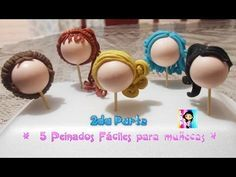 Hairstyles for cold porcelain dolls Polymer Clay People, Fimo Polymer Clay, Polymer Clay Projects, Polymer Clay Creations, Porcelain Clay, Cold Porcelain, Cute Clay, Pasta Flexible, Foam Crafts