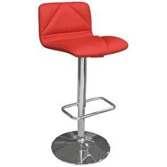Vivo Red Leatherette Bar Stool - lampsplus