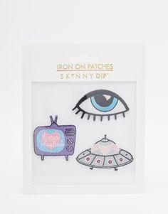 Skinnydip Eye Iron On Patches (3pk)