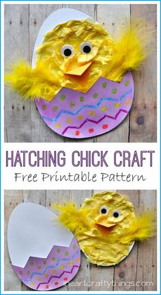 40+ Simple Easter Crafts for Kids - Hatching Chick Craft