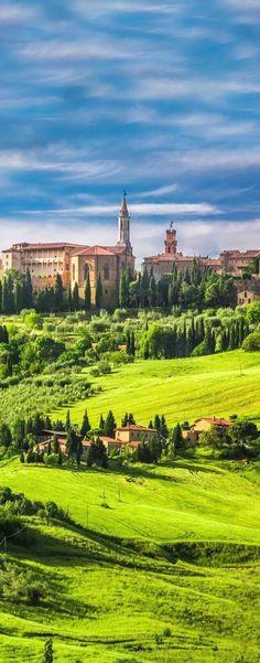 Pienza, Tuscany, Italy #visitingitaly