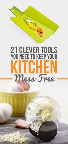 21 Clever Kitchen Tools That'll Keep Your Hands Mess-Free Board: Kitchen Gadgets and Gizmos Home Gadgets, Kitchen Tools And Gadgets, Cooking Gadgets, Gadgets And Gizmos, Cooking Tools, Kitchen Items, Kitchen Utensils, Kitchen Hacks, Kitchen Supplies