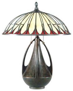 Art Nouveau and Art Deco Will Never Go Out of Style Tiffany Table Lamps, Art Deco Table Lamps, Art Nouveau, Antique Lamps, Vintage Lamps, Lampe Art Deco, Lampe Retro, Jugendstil Design, Design Industrial