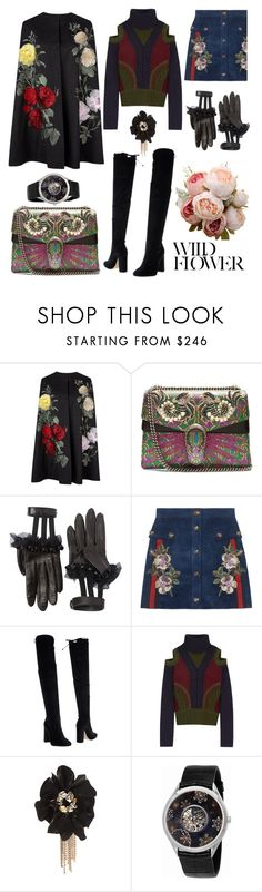 """""""Flower Mood"""" by doctorgarderob ❤ liked on Polyvore featuring Gucci, Bianca Di, Alexander McQueen, Lanvin and Vacheron Constantin"""