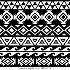 Seamless Tribal Pattern Design - stock vector