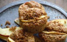 Opskrift på fedtfattige muffins med banan og æble