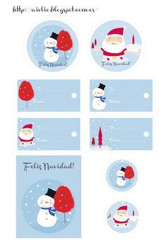 Etiquetas Navidad #printables