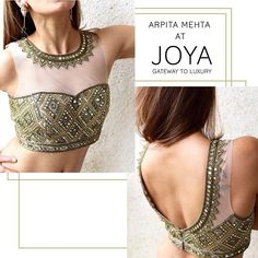 Get this tube Dibbi Mirror blouse and many more, only at JOYA – August. Indian Dress Up, Indian Blouse, Indian Attire, Indian Wear, Indian Sarees, Saree Jacket Designs, Saree Blouse Neck Designs, Choli Designs, Blouse Patterns