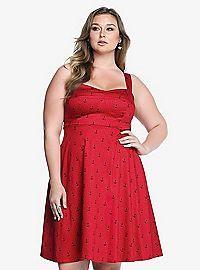 TORRID.COM - Anchor Polka Dot Swing Dress