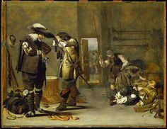 Soldiers arming themselves by Jacob Duck 1635